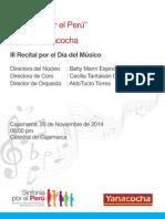 Programa de Mano - Concierto 20 de Noviembre Redu