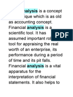 Ratio-Analysis is a Concept or Technique Which