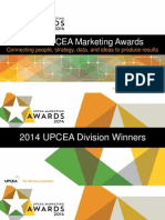 UPCEA 2014 Marketing Awards General Presentation -