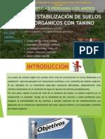 Estabilización de Suelos Organicos Con Tanino