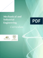 Mechanical and Industrial Engineering Curriculum