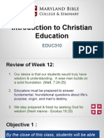 educ310- intro to christian education 13
