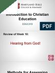 educ310- intro to christian education 11
