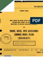 TM 9-2815-213-34 CUMMINS V8-300 DIESEL ENGINE