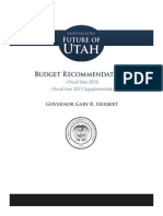 Governor Gary Herbert's Final Budget Recommendations 12.10.2014 for Fiscal Year 2016