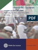 Sunni Deobandi-Shi`i Sectarian Violence in Pakistan