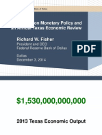 Annual Texas Economic Review by Federal Reserve Bank of Dalls