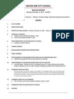 December 15 2014 Complete Agenda