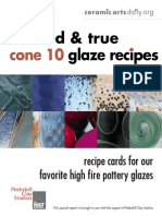 15 Cone 10 Glaze Recipes