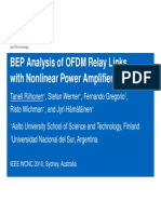 BEP Analysis of OFDM Relay Links With Nonlinear Power Amplifiers