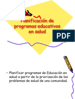 planificacion de programas educativos en salud