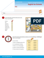 At Home - Worksheets a1, A2, b1