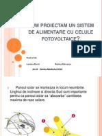 Sistem de Alimentare Cu Celule Fotovoltaice