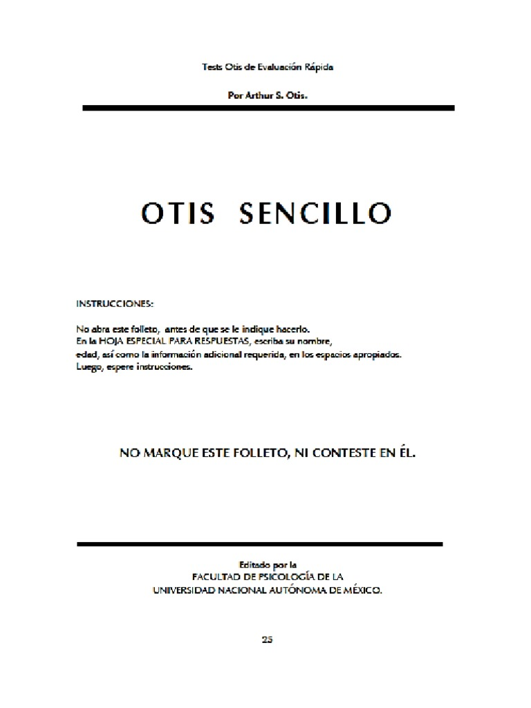 test otis sencillo pdf