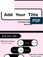 Pink Black Lovely PPT Template