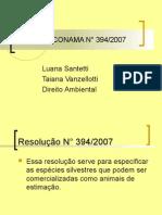 Resolução CONAMA N° 394/2007
