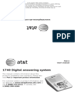 ATT 1740 Answering Machine Users Manual Part 2