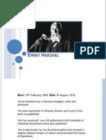 Ernst Haeckel Presentation