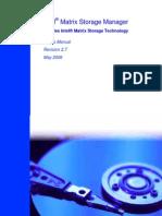 User_Manual Intel(R) Matrix Storage Manager