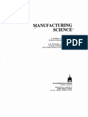 amitabha ghosh and mallik manufacturing science pdf