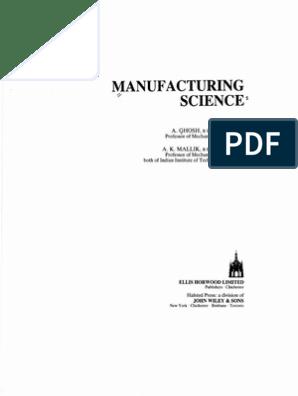 amitabha ghosh and mallik manufacturing science pdf