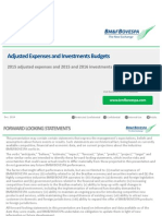 Presentation - Adjusted OPEX and CAPEX Budgets