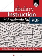 Vocabulary Instruction for Academic Success, 2009 Edition