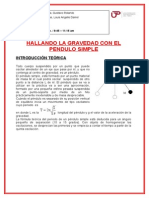 Informe de Fisica Pendulo Simple