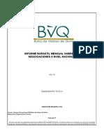 informe bursatil mensual