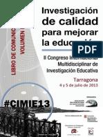 Libro Comunicaciones CIMIE 13 Volumen I Areas