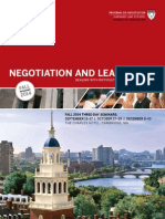2014 Fall Negotiation and Leadership Brochure