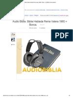 Audio Biblia. Biblia Hablada Reina Valera 1960 + Bonos. - $ 100