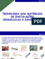 8.Tecnologia Dos Materiais de Instalações Hidráulicas e Sanitárias
