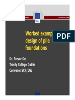 Worked Examples Design of Pile Foundations