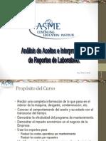 Curso Analisis Aceites Interpretacion Reportes Laboratorio Maquinarias