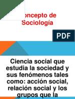 Concepto de Sociología
