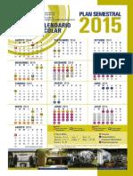 Calendario Escolar UNAM 2015 -Plan Semestral
