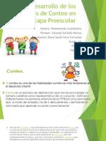 Principios de Conteo en La Etapa Preescolar