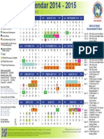 Academic Calendar 2014 2015