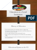education as a social institution