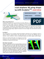 3D Wing-shape Morphing with Sculptor