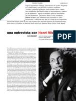 Una Entrevista Con Henri Michaux