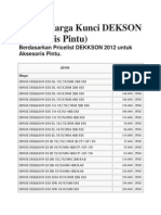 Harga Dekkson