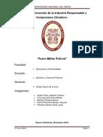 Monografia de Fuero Militar