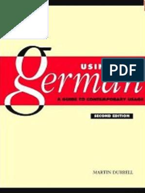Using Germanpdf Verb Grammatical Gender