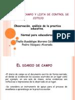 Diario de Campo y Lista de Control De