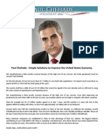 Paul Chehade - Simple Solutions to Improve the United States Economy