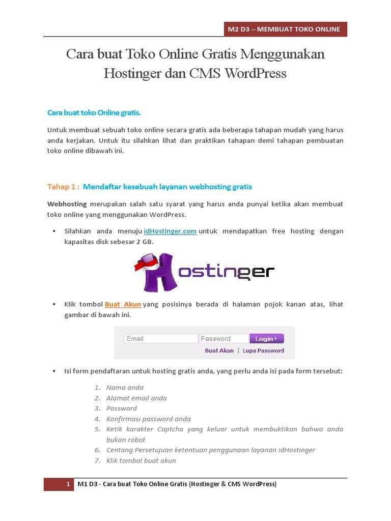 44+ Cara Hosting Gratis Di Hostinger paling mudah