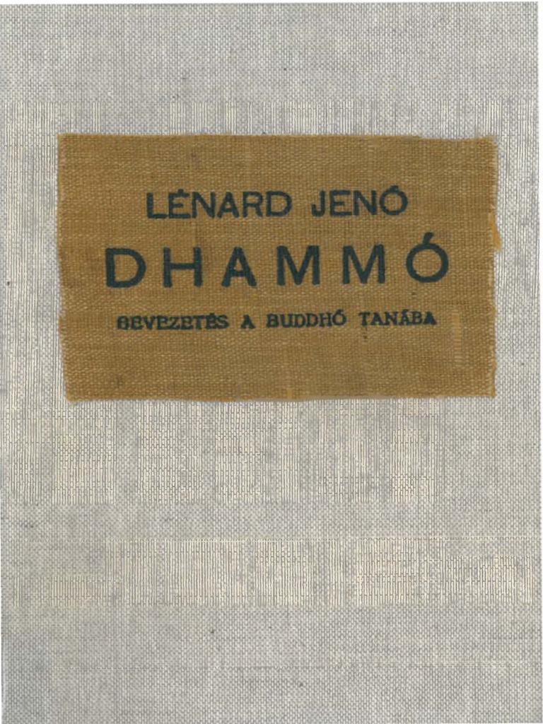 Lénárd Jenő  Dhammó I-II. 64ac43d69e