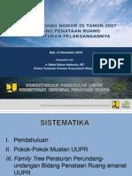 Bahan Paparan Dir Binda II_Sosialisasi UUPR_UNMAS (13 November 2014)
